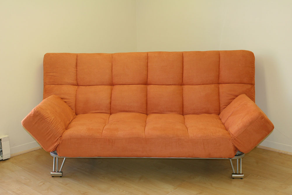 Image of: Orange Click Clack Futon