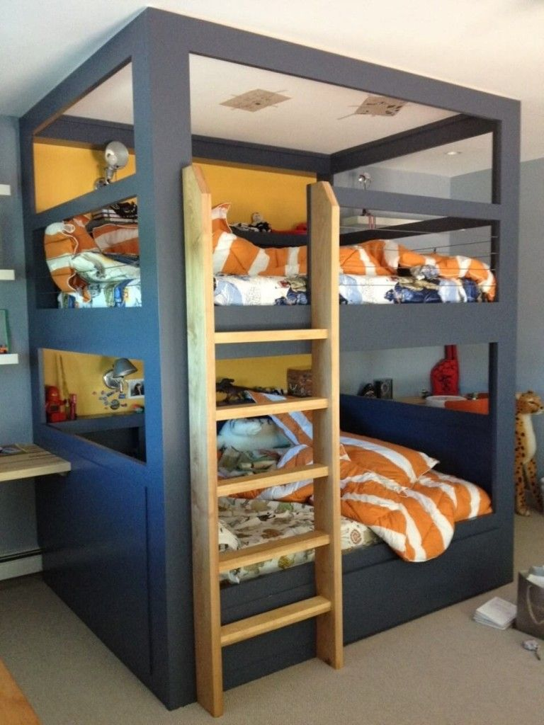 Image of: Paint Futon Bunk Bed Designs
