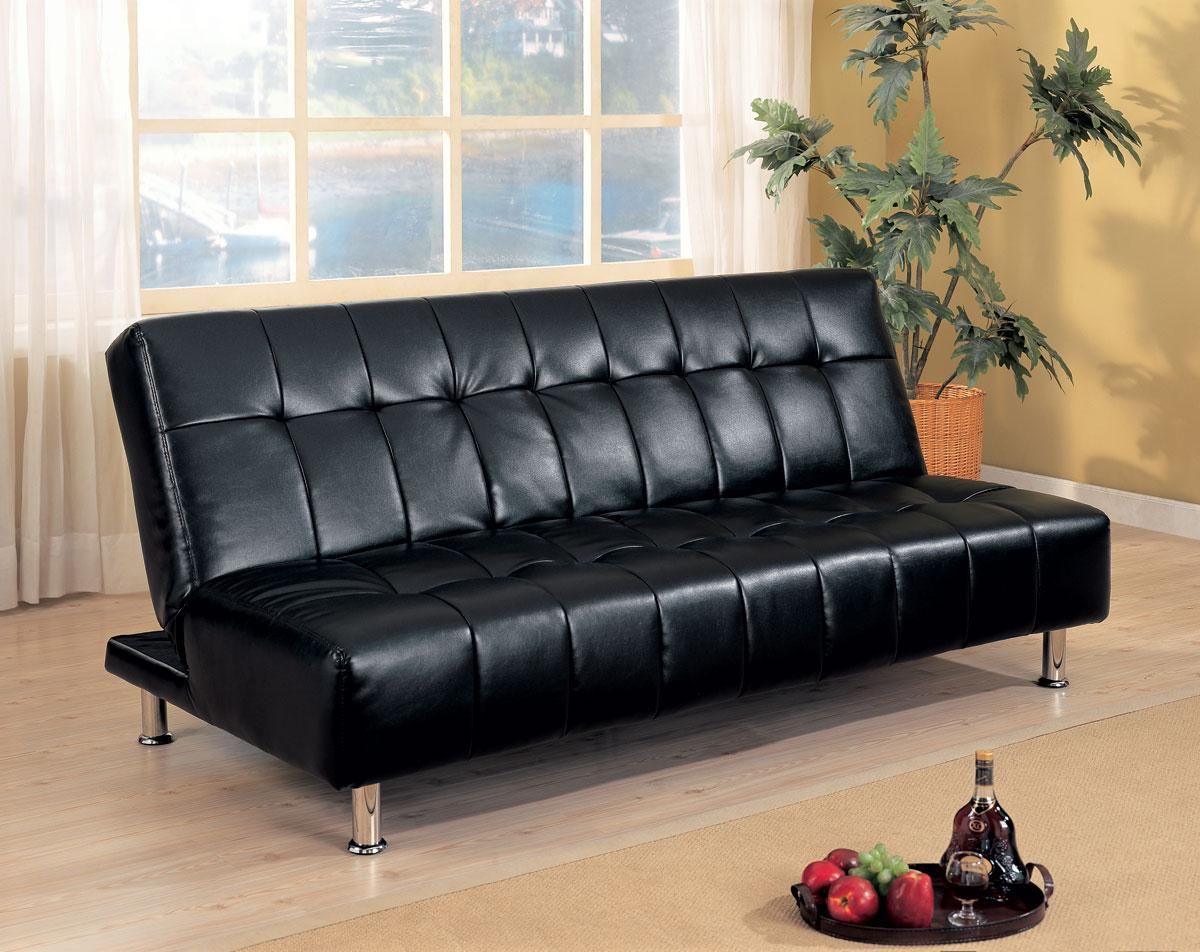 Image of: Perfect Faux Leather Futon