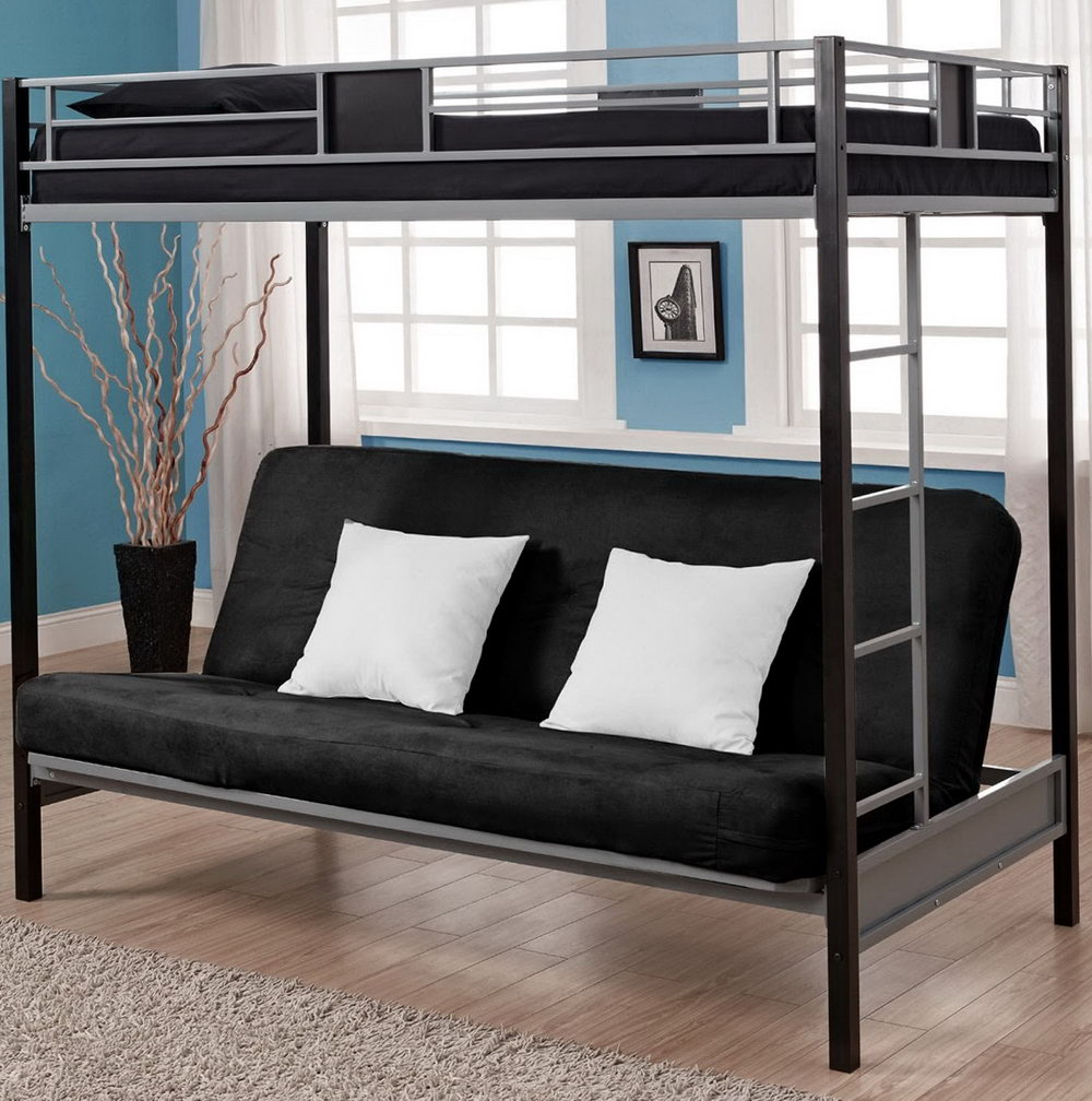 Image of: Picture Metal Futon Bunk Bed