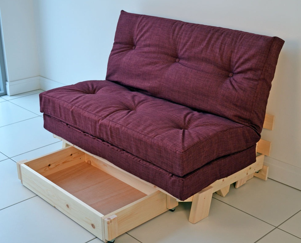 Image of: Purple Small Futons
