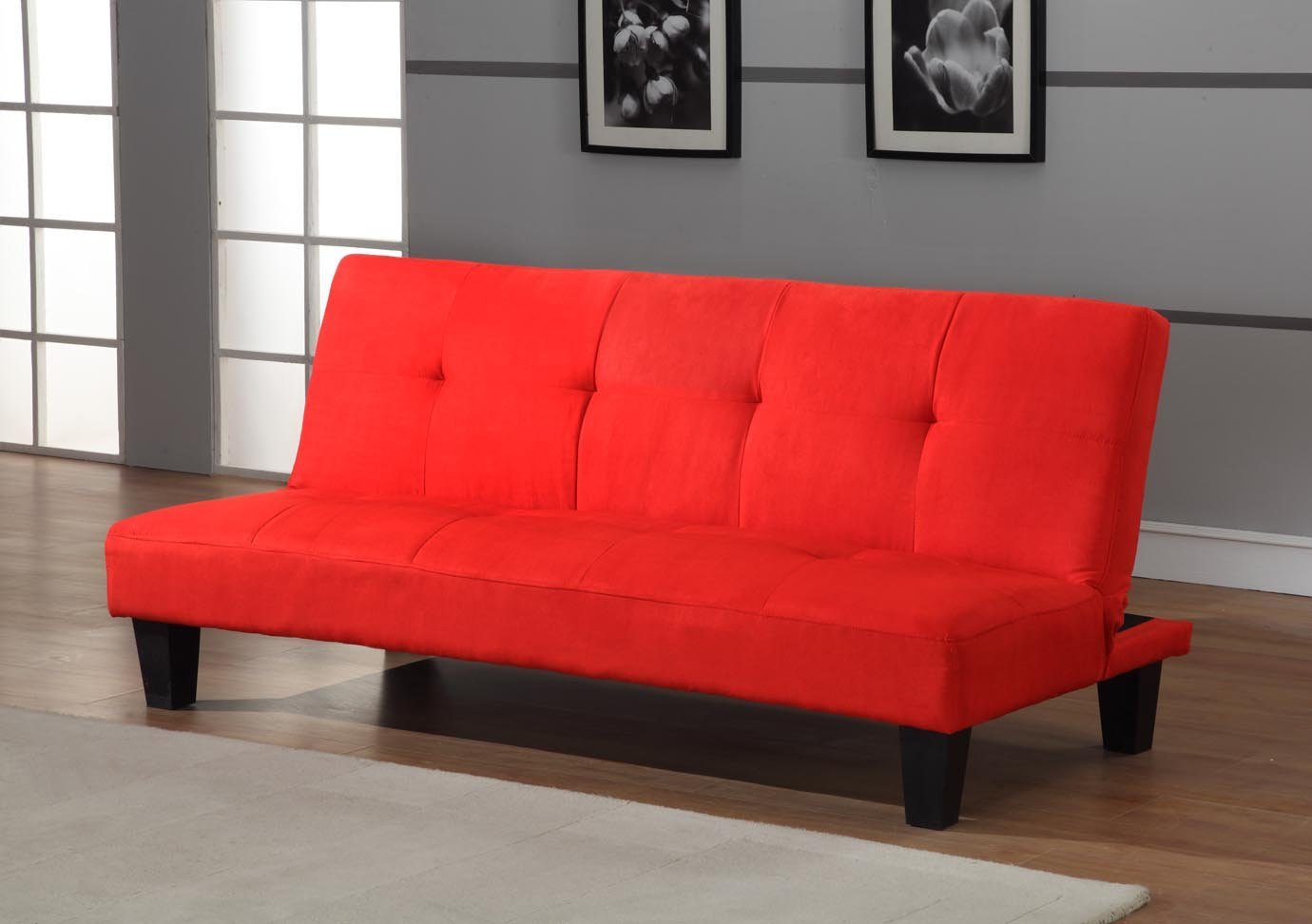 Image of: Red Futon Bed Designs Target