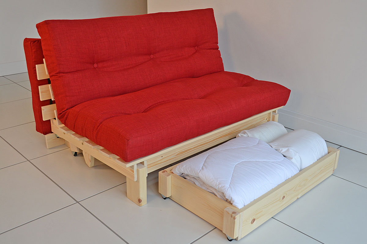 Red Futon Chair Bed
