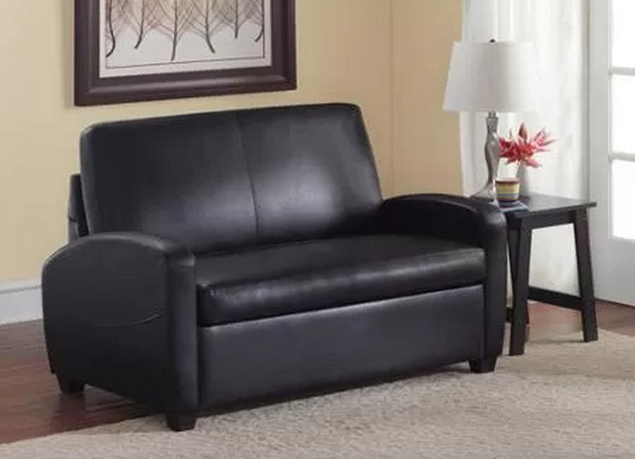 Image of: Small Futon Couch Black