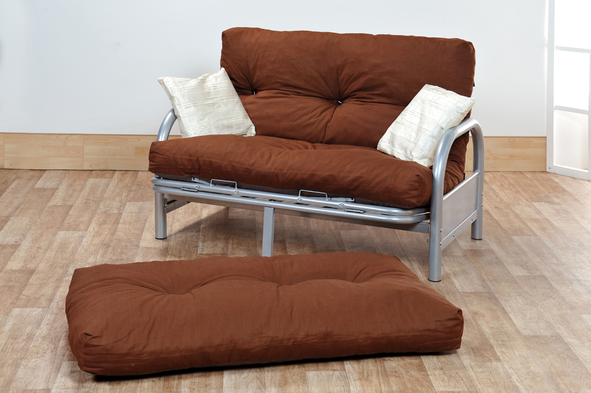Image of: Small Futon Couch Brown