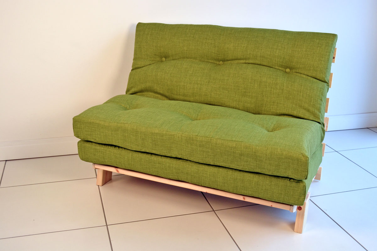 Small Futon Couch Green