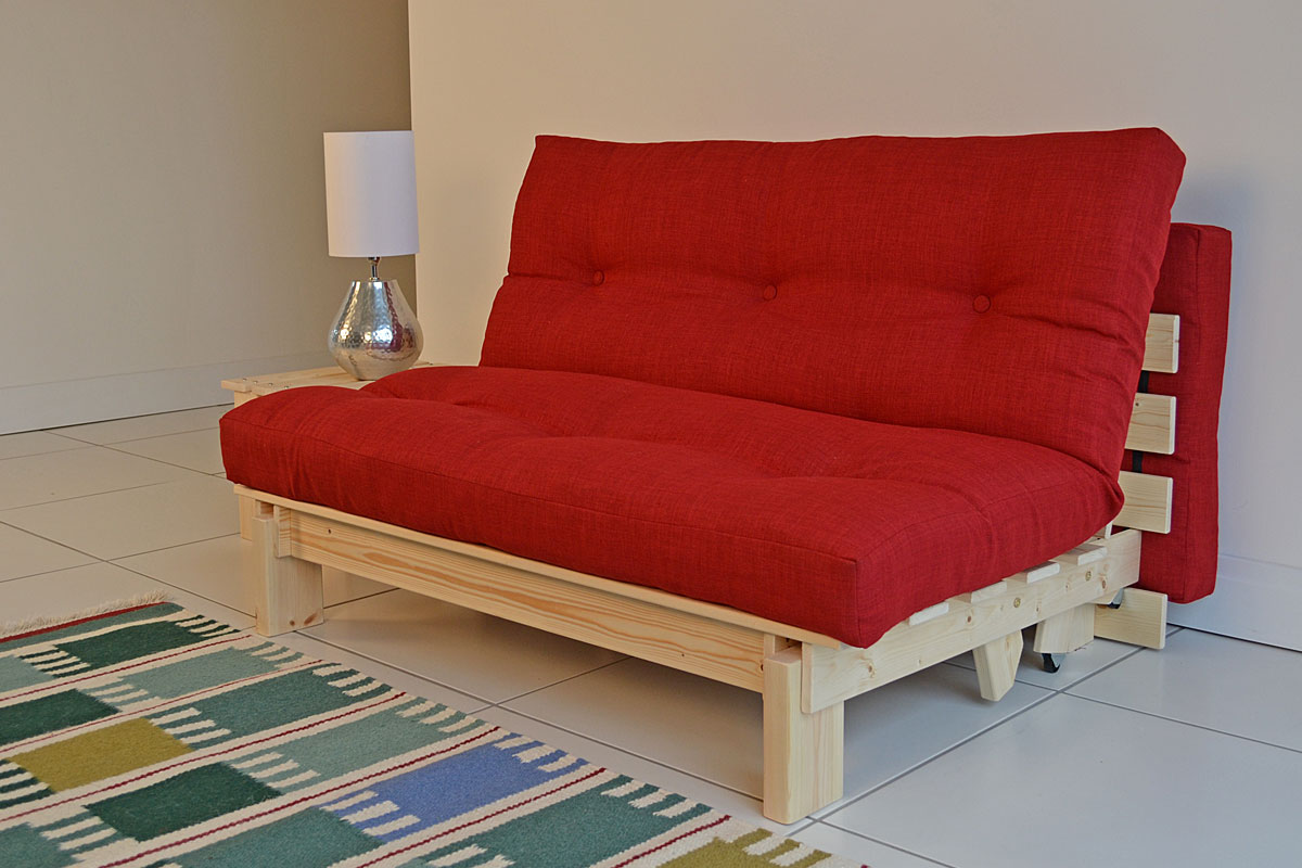 Image of: Small Futon Couch Red