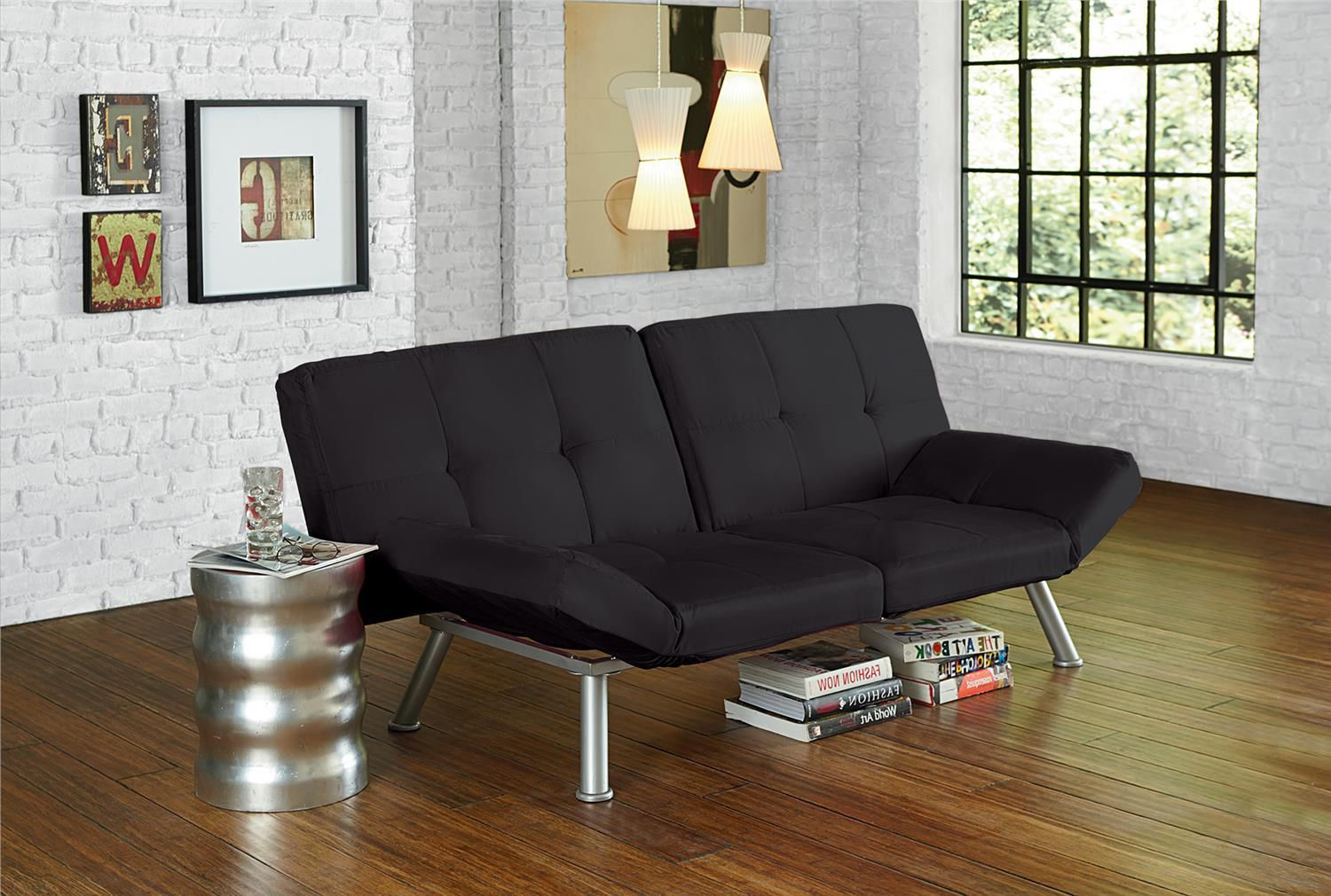 Image of: Small Futons Black