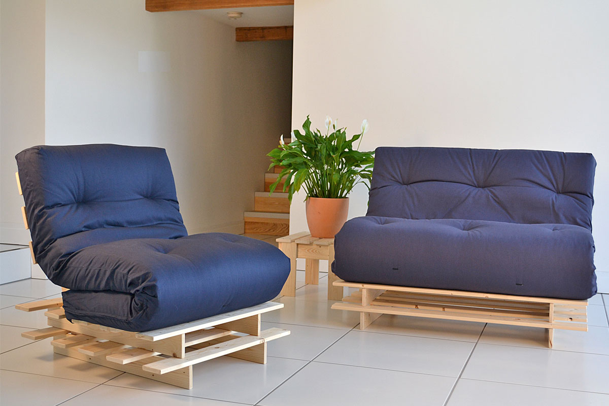 Small Futons Blue