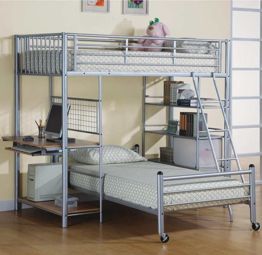 Image of: Stainlis Futon Bunk Bed Designs