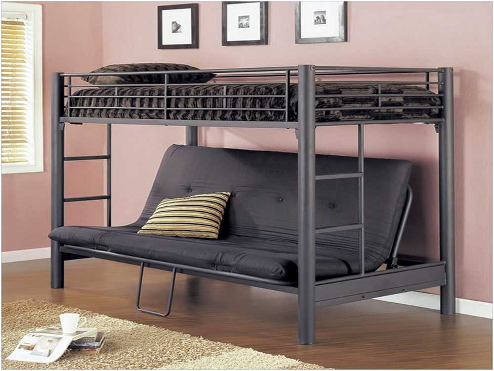 Image of: Stylish Metal Futon Bunk Bed