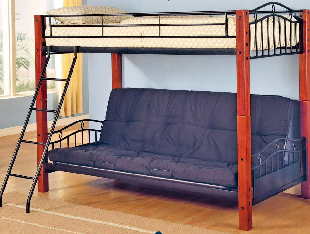 Traditional Twin Over Futon Bunk Bed