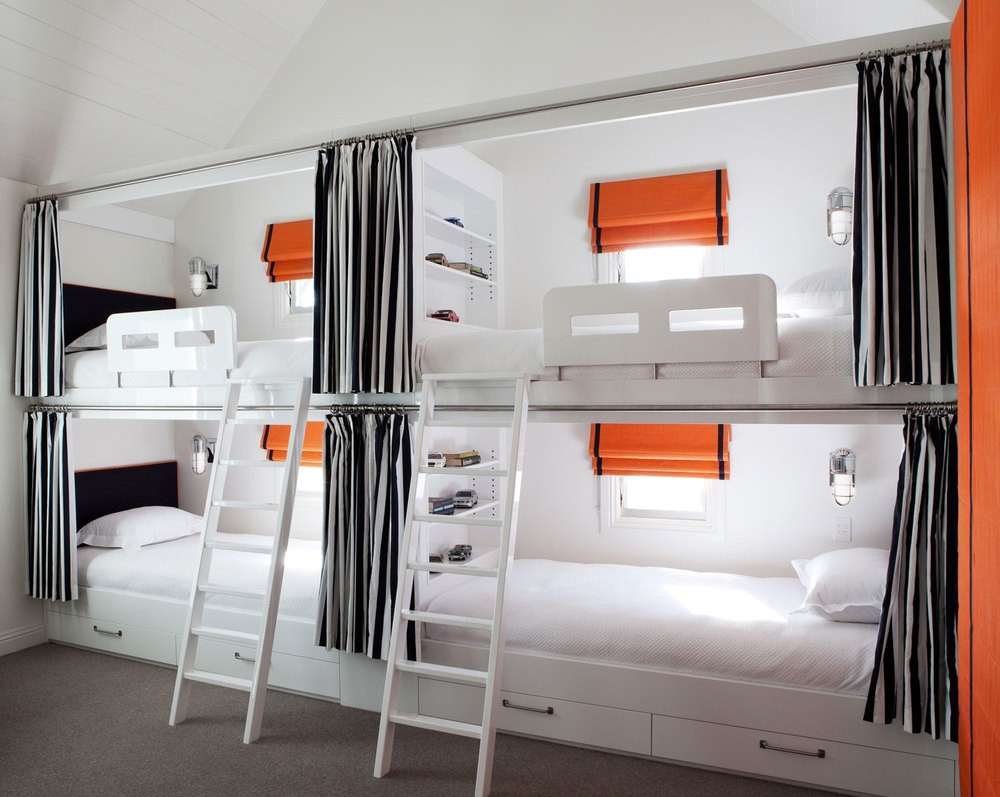 Image of: Twin Bunk Bed with Futon