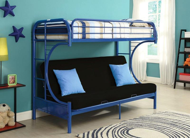 Image of: Twin Over Queen Bunk Bed Mini Futon Sofa Ideas
