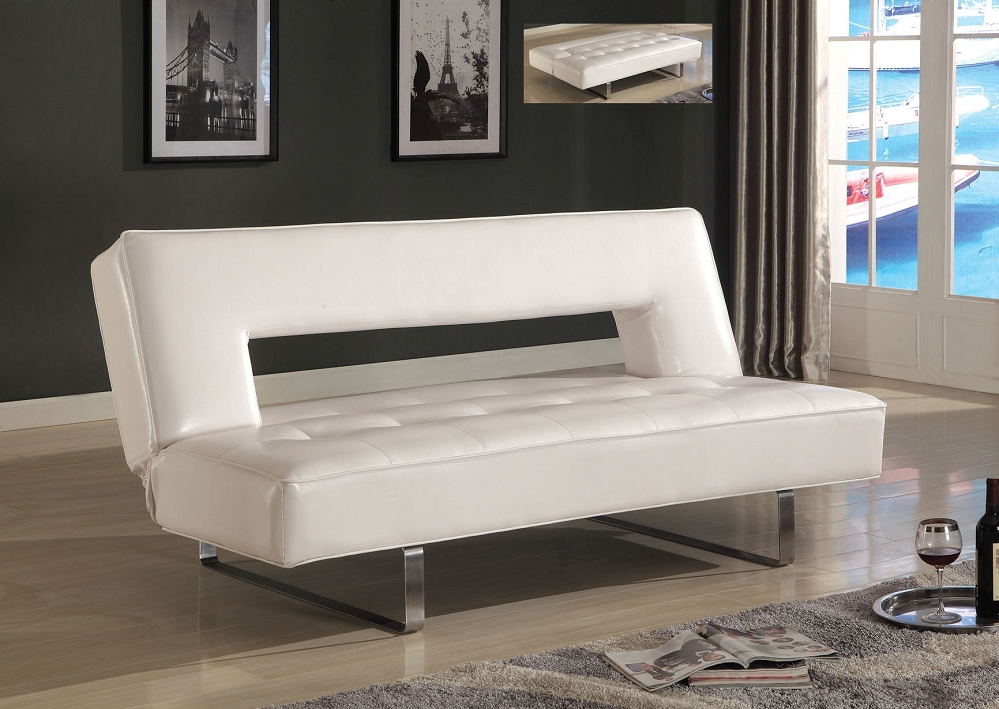White Futon Cheap Design