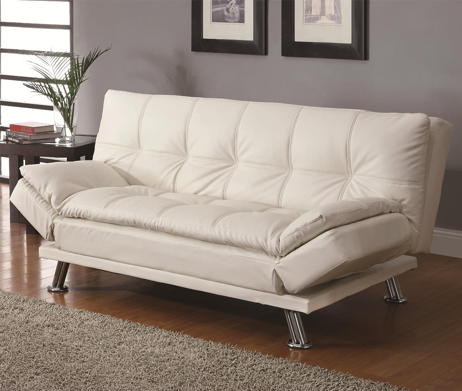 Image of: White Futon Value City