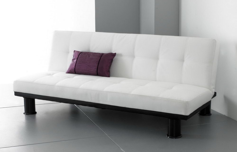 Image of: White King Size Futon