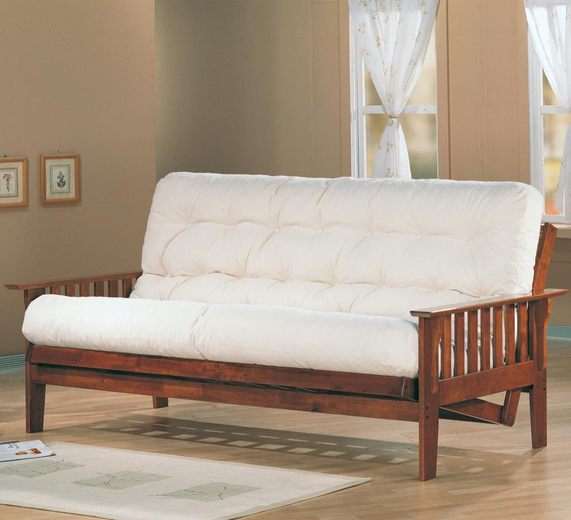Image of: Wooden Futon Sofa