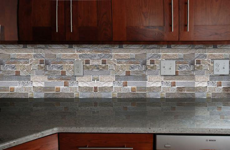 Image of: Unique Brick Tile Backsplash Ideas