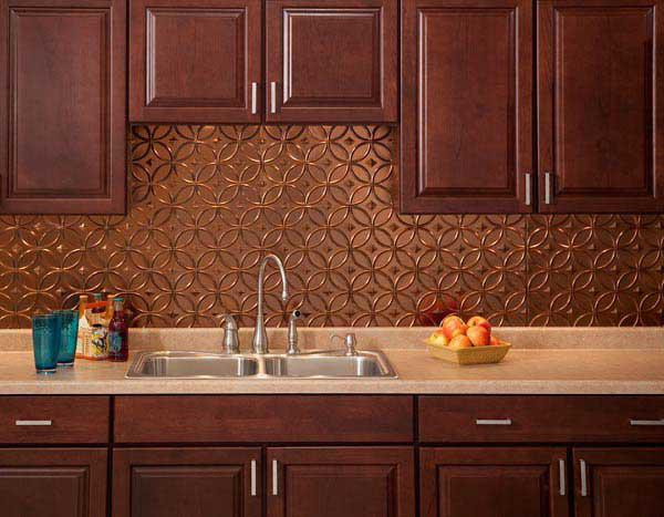 Image of: Unique Beauty Copper Backsplash Ideas