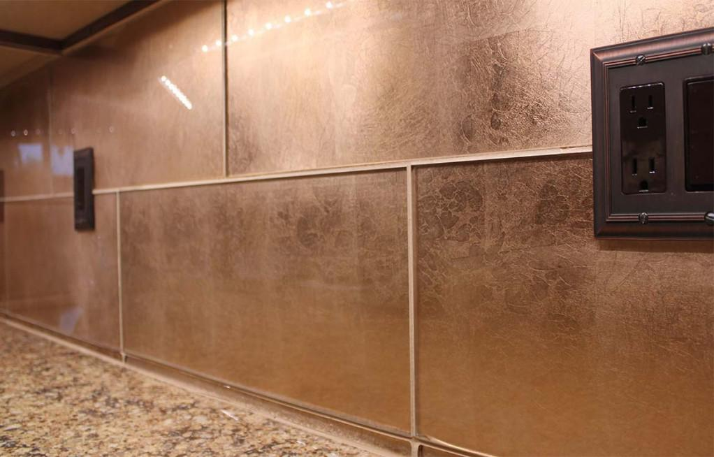 Image of: copper backsplash panels
