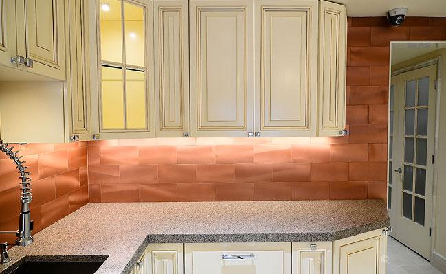 Image of: copper backsplash style