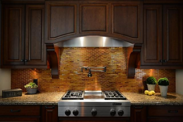 Image of: copper tile backsplash for kitchen
