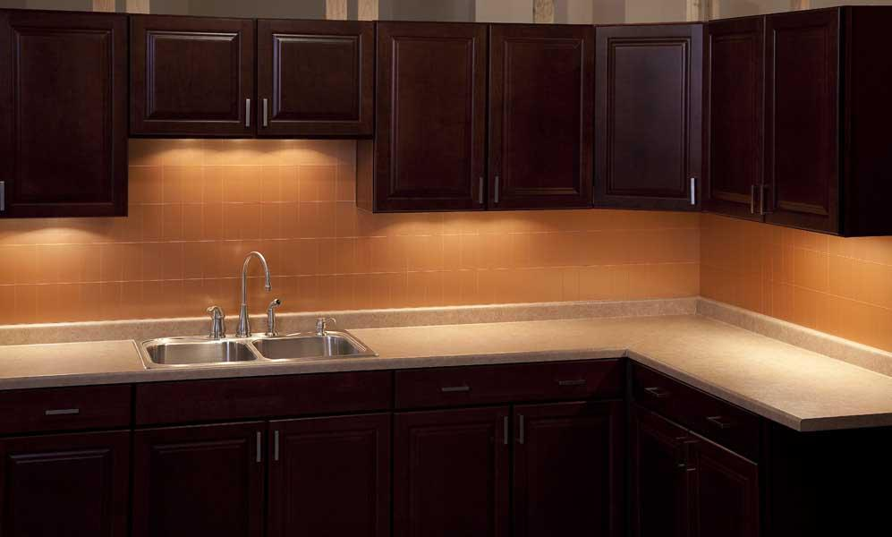 Image of: copper tile backsplash ideas
