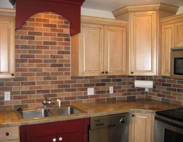 Image of: Faux Brick Tile Backsplash Design Ideas