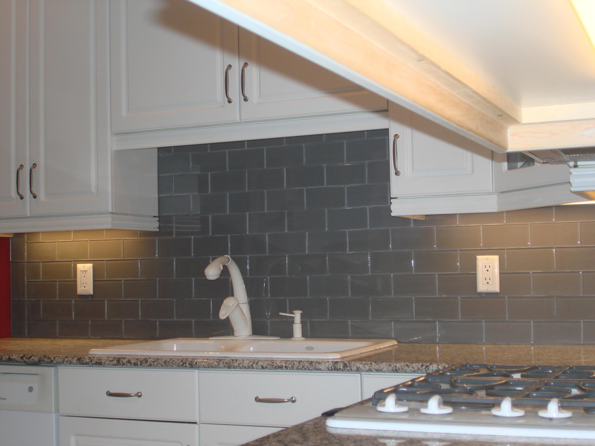Image of: home depot mosaic tile backsplash