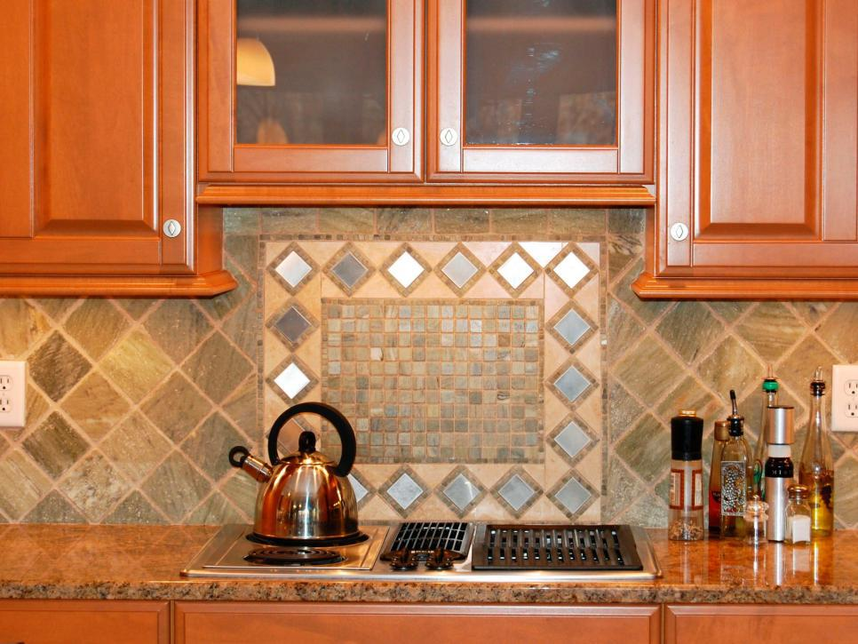 Image of: inexpensive tile backsplash decor