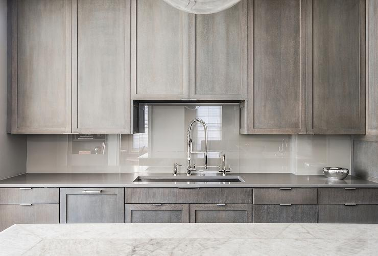 Image of: light gray backsplash