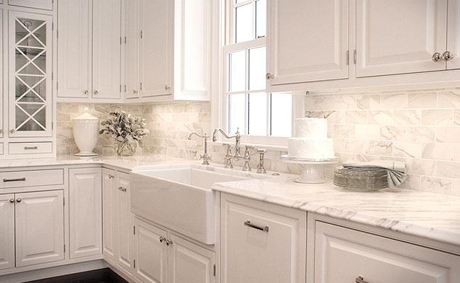 Image of: marble backsplash decor
