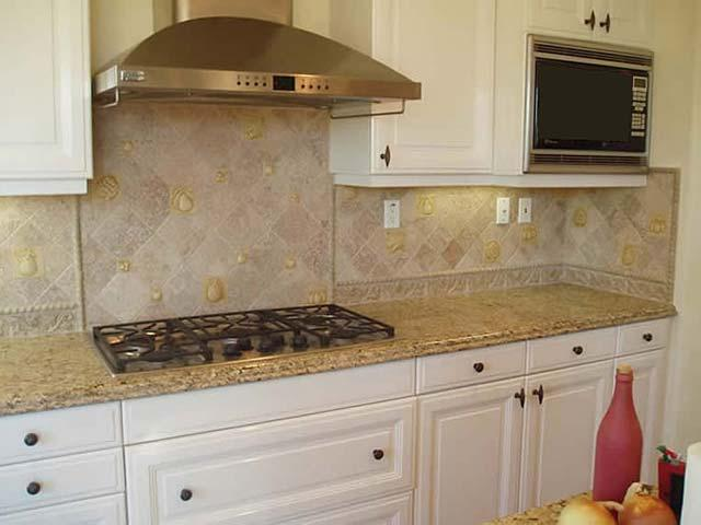 Image of: marble backsplash ideas