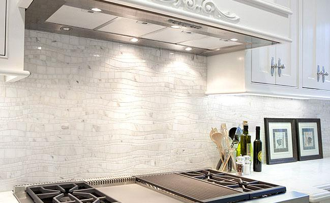 Image of: Marble Backsplash Tile Designs Ideas