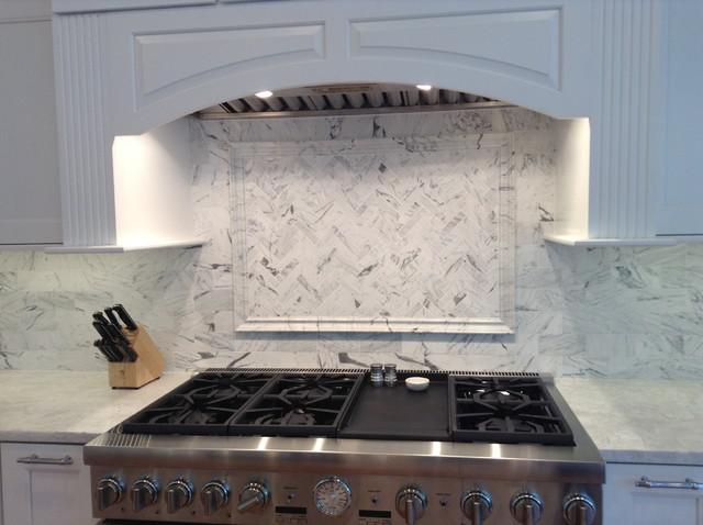 Image of: White Marble Mosaic Backsplash Ideas