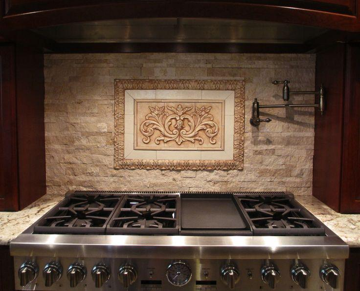 Image of: marble mosaic tile backsplash