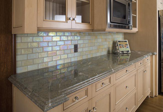 Image of: mosaic glass tiles for backsplash