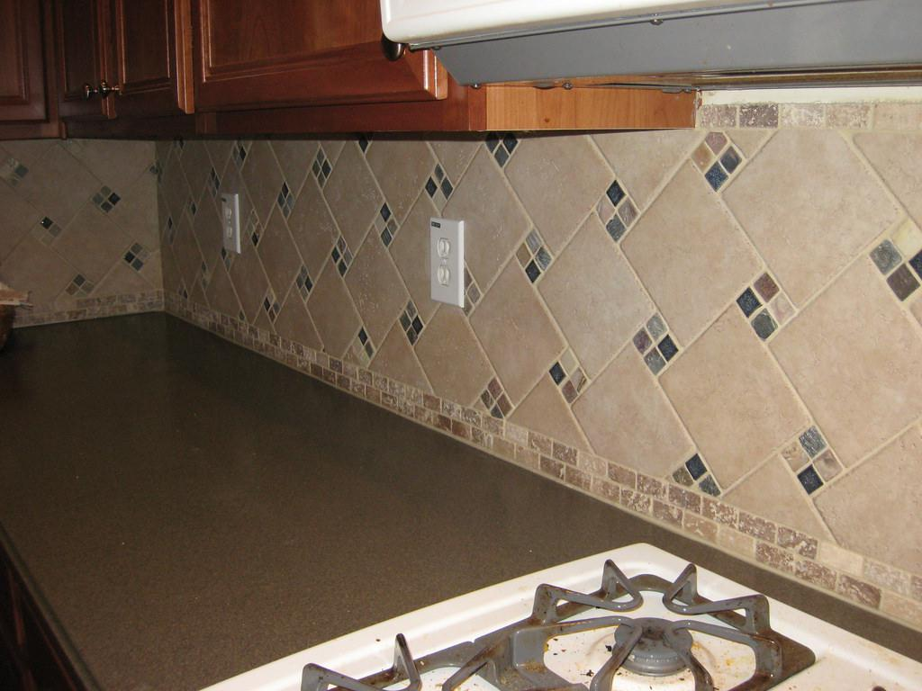 Image of: natural stone backsplash