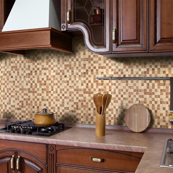 Image of: peel and stick backsplash tiles glass