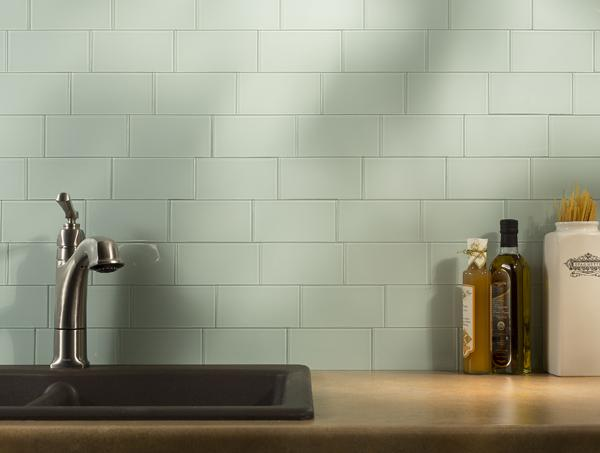 Image of: White Subway Peel and Stick Backsplash Ideas