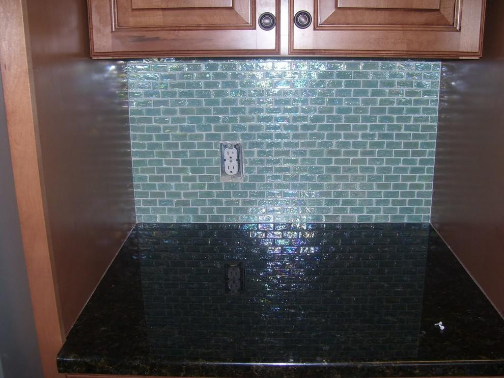 Image of: peel and stick glass mosaic tile backsplash