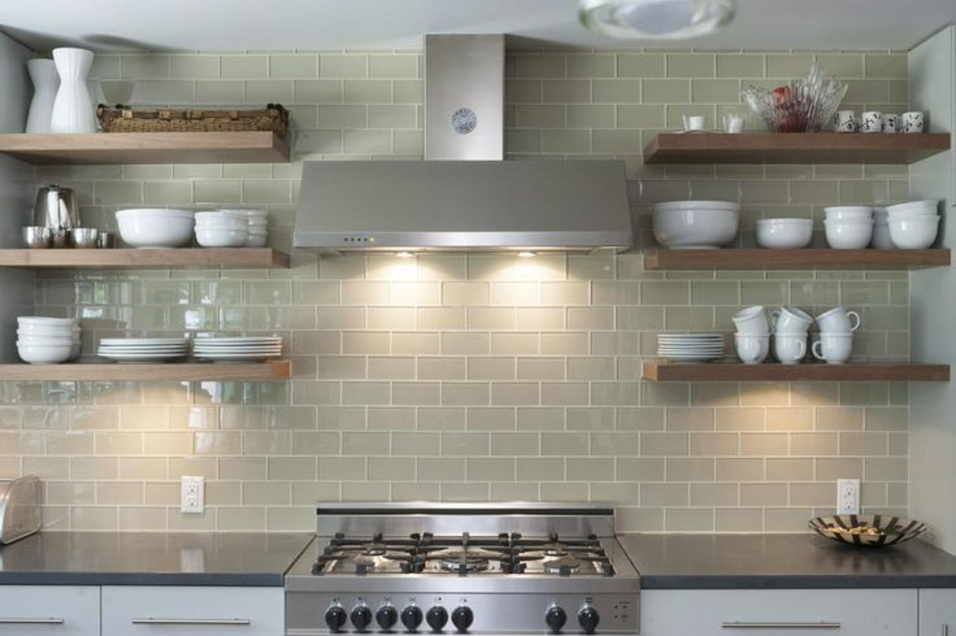 Image of: self stick glass backsplash tiles
