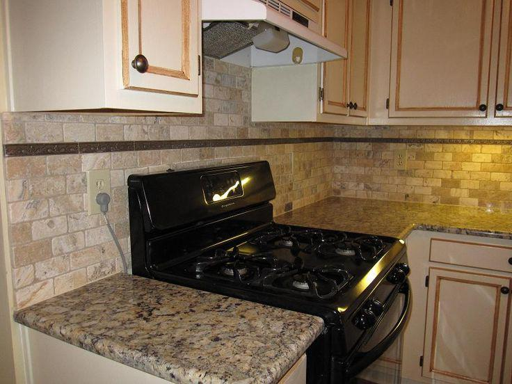Image of: Stacked Stone Backsplash Design Ideas