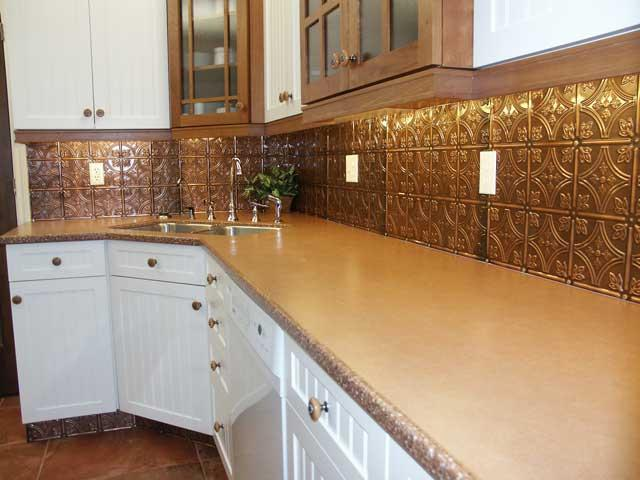 Image of: Decorative Tin Tile Backsplash Ideas Colors