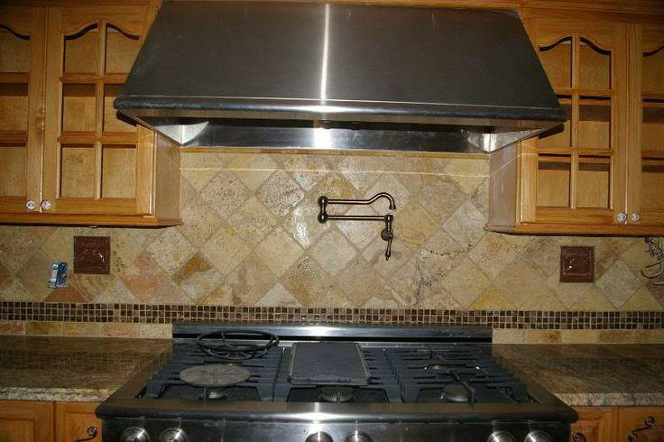 Image of: tumbled stone backsplash modern