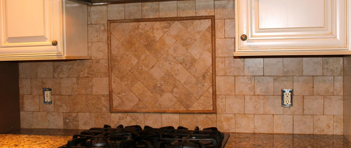 Image of: tumbled stone backsplash pictures