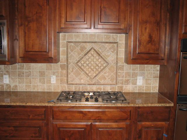 Image of: tumbled stone backsplash unique