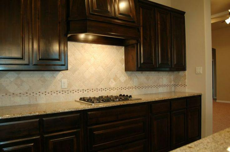 Image of: tumbled stone backsplash