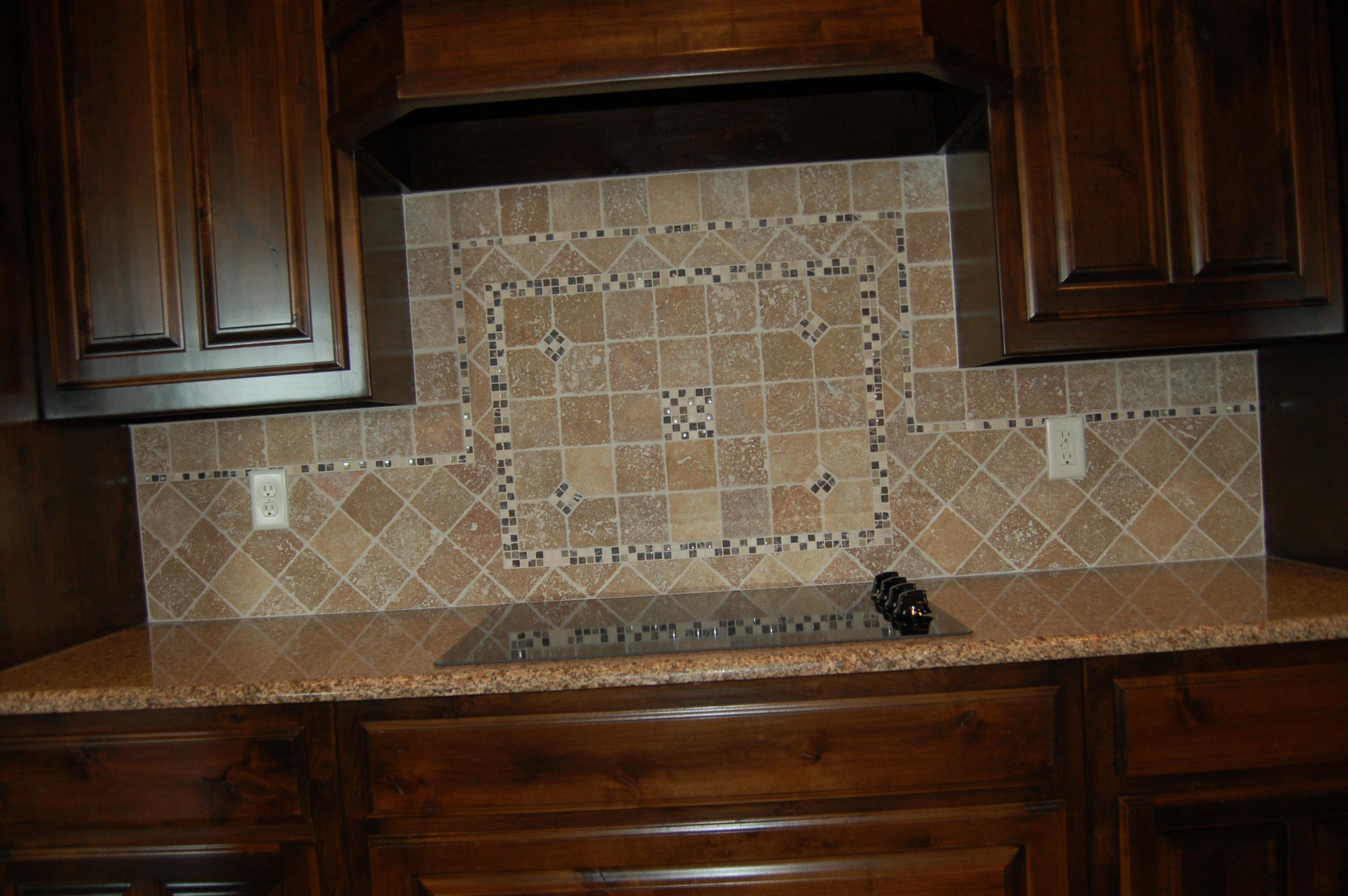Image of: tumbled stone tile backsplash